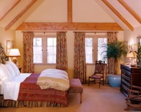 14万打造豪华欧式风格二居卧室窗帘装修效果图