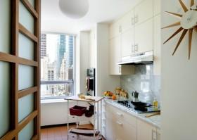6万打造二居现代风格厨房橱柜装修效果图大全
