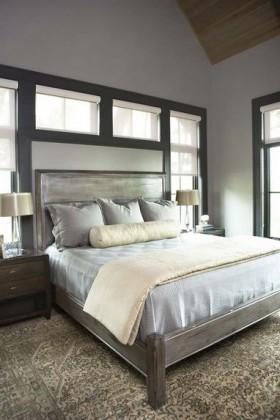 三室两厅灰色调卧室阁楼装修效果图大全