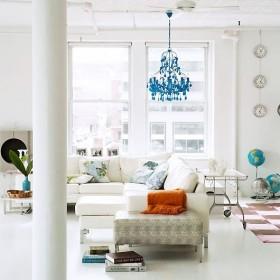 二室一厅宜家风格客厅吊顶装修效果图大全
