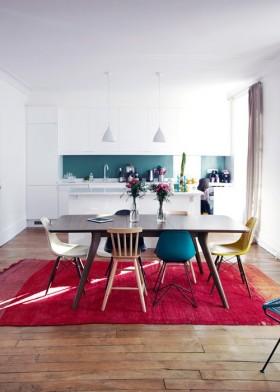 两室一厅开放式厨房餐厅装修效果图欣赏