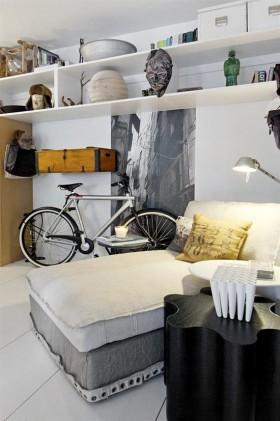 70平小户型现代卧室博古架装修效果图大全