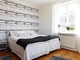 95㎡北欧风格复式楼卧室装修效果图大全