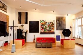欧式风格客厅个性相框背景墙装修效果图