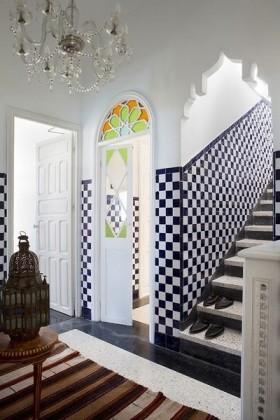 摩洛哥楼梯玄关瓷砖装饰效果图