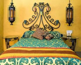90平米小户型东南亚风格卧室黄色背景墙装修效果图大全