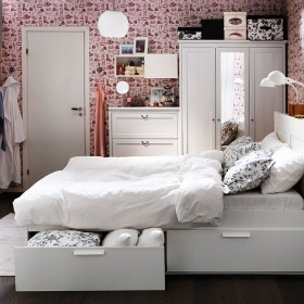 12万打造120平米现代简约风格卧室装修效果图大全