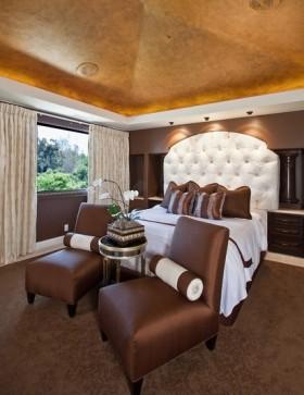 咖啡色浪漫的卧室装修效果图大全