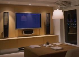 二居现代客厅电视背景墙装修效果图