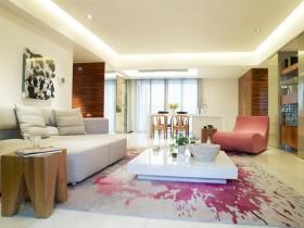 清新的现代风格客厅装修效果图