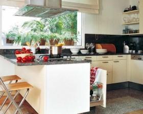 80后小夫妻田园风格厨房橱柜装修效果图