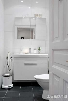 简单的装修打造完美简约风格卫生间装修图片