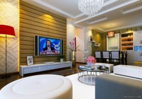 90平米小户型客厅电视背景墙装修效果图大全