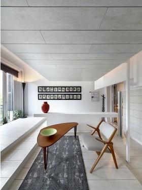纯白色的简约风格休闲区装修效果图大全