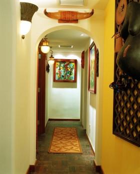 东南亚风格过道装修背景墙效果图大全