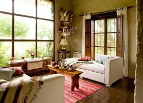极致的田园风格装修客厅图片
