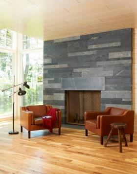 原木元素的山景房现代风格装修客厅图片