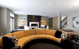时尚三居室客厅沙发装修效果图
