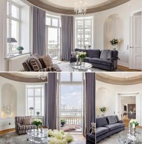 四居室清新漂亮的客厅飘窗装修效果图大全