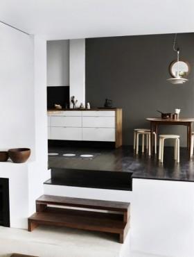 复式楼厨房橱柜装修效果图大全2012图片