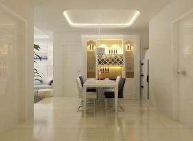 现代城华庭简约风格二居装修餐厅效果图
