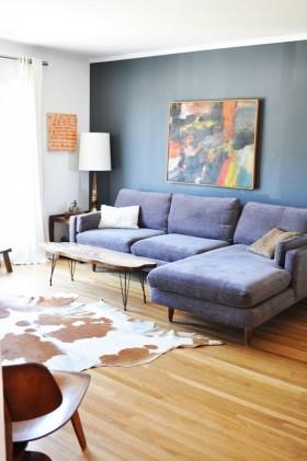 两室一厅客厅沙发背景墙装修效果图大全