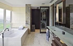 现代元素打造两房两厅卫生间装修效果图