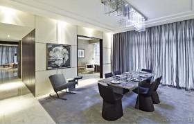现代元素打造两房两厅餐厅装修效果图