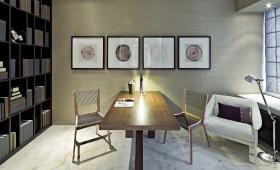 现代元素打造两房两厅书房装修效果图大全2012图片