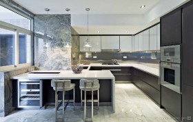 现代元素打造两房两厅厨房装修效果图大全2012图片