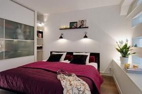 70平小户型紫色卧室装修效果图大全