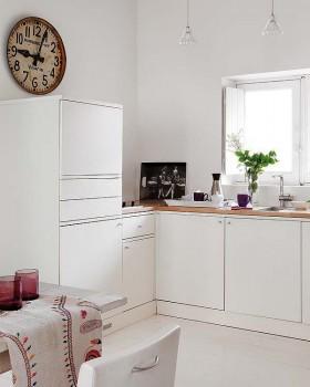 45平米小户型白色简洁厨房橱柜装修效果图大全
