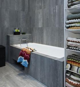 80平男士单身公寓卫生间瓷砖效果图
