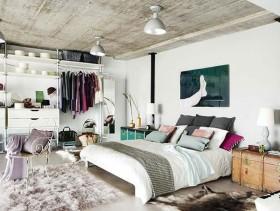博尚新都Loft复式卧室吊顶装修效果图大全