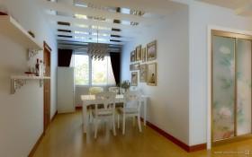 60平方简欧风格餐厅玄关装修效果图