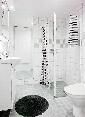 80平单身公寓厕所装修效果图大全