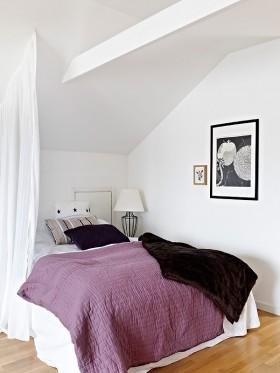 70平小户型紫色高洁的卧室装修效果图大全