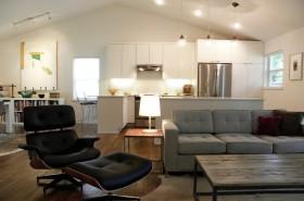现代简约装修风格阁楼客厅装修效果图