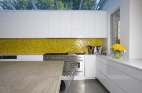 140平四居室现代风格厨房橱柜装修效果图大全