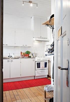 90平小户型简欧风格厨房橱柜装修效果图大全