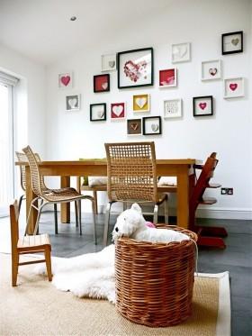 三室两厅简欧风格爱心书房装修效果图大全