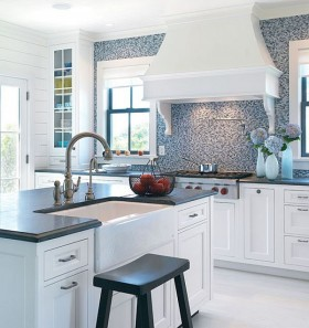 复式楼简洁干净厨房装修效果图大全2012图片