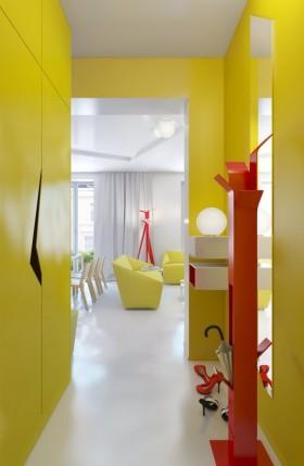 90平小户型现代婚房进门玄关装修效果图大全