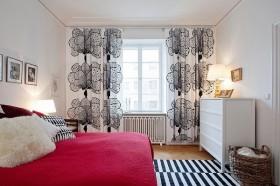 90平小户型婚房卧室窗帘装修效果图大全