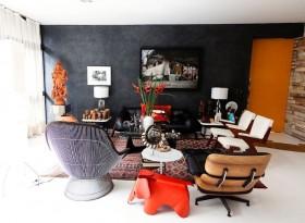 美式别墅温馨个性客厅背景墙装修效果图大全