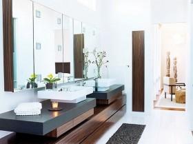 现代风格别墅家庭洗手间装修效果图