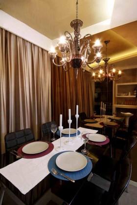 90平米浪漫的小户型餐厅装修效果