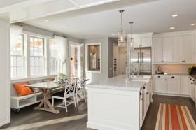 120平方复式楼北欧风格厨房橱柜装修效果图