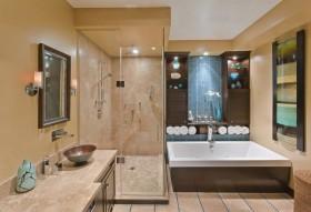美式三室两厅卫生间装修效果图大全