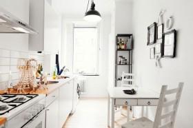 复式楼北欧风格厨房橱柜装修效果图大全